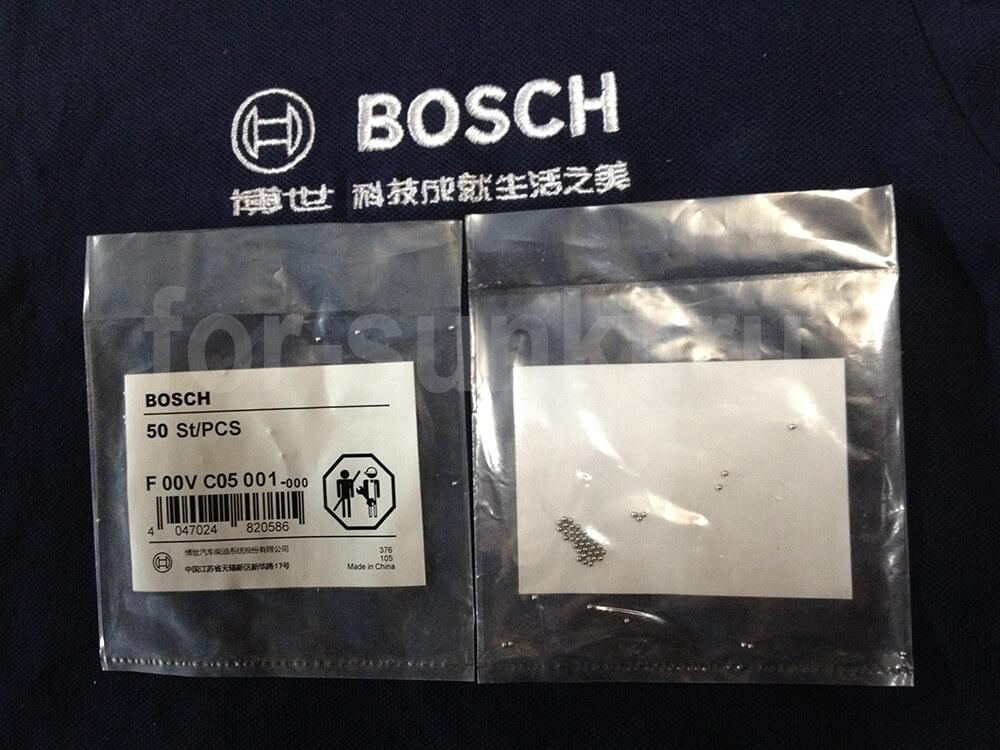 Bosch F00VC05001 - купить стальной шарик для ремонта форсунок Common Rail